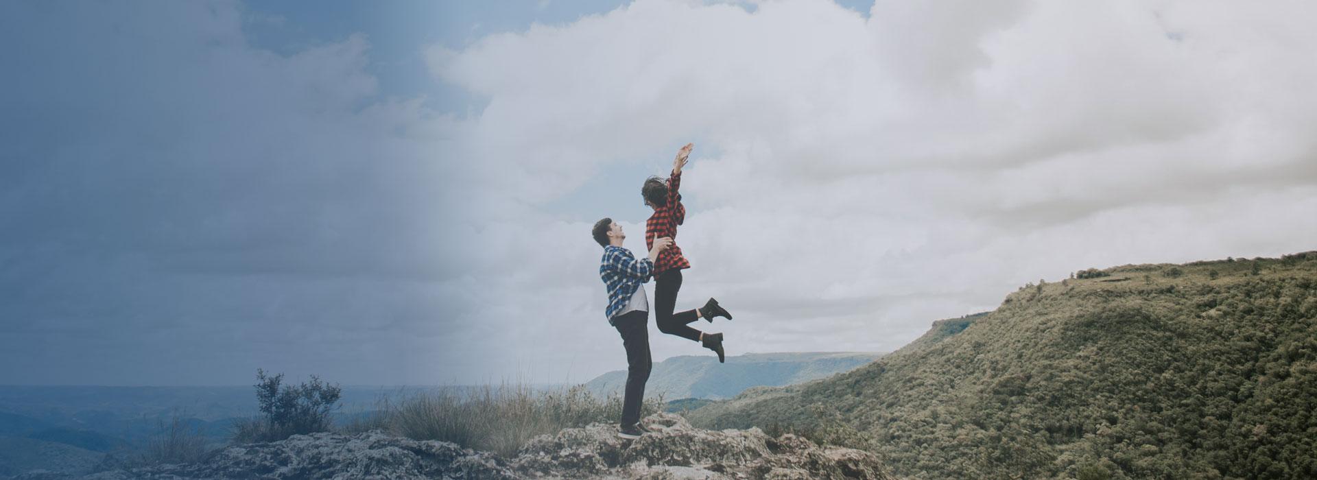 Onnellinen pari ilman herpestä - herpesfree.